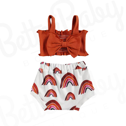 Rain Bow Baby Girl Outfit