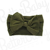 Ready Set Bow Baby Headband Green