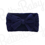 Ready Set Bow Baby Headband Navy