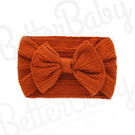 Ready Set Bow Baby Headband Orange