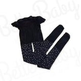 Rhinestone Baby Stockings Black