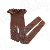 Rhinestone Baby Stockings Brown