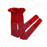 Rhinestone Baby Stockings Red