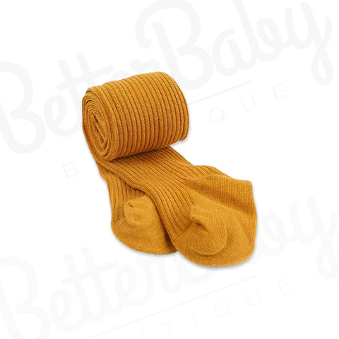 Ribbed Baby Stockings Yellow