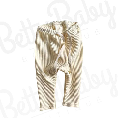 Ribbed Solid Baby Pants