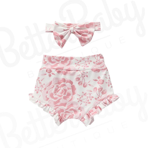 Rosen Baby Girl Shorts And Bow