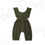Ruffle Me Green Baby Jumpsuit