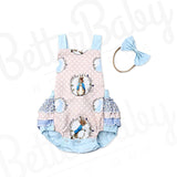Ruffles And Bunnies Baby Romper Front