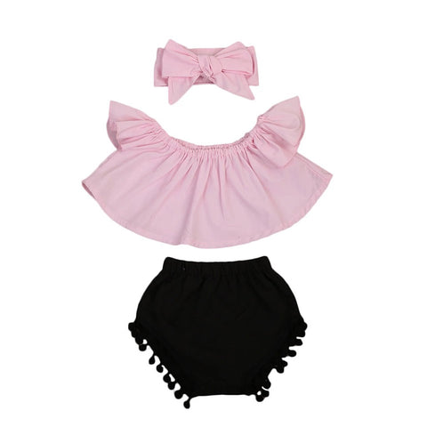 Luxe Pink Baby Girl Outfit