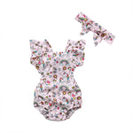 Unicorn Paradise Baby Romper And Bow