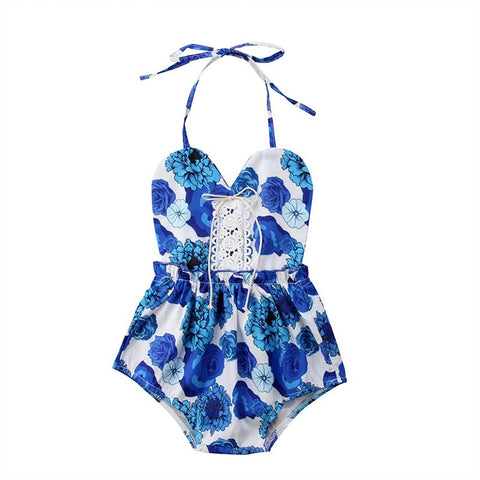 Blue-tiful Baby Girl Romper