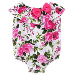 Baby Girl Romper With Pink Floral Pattern