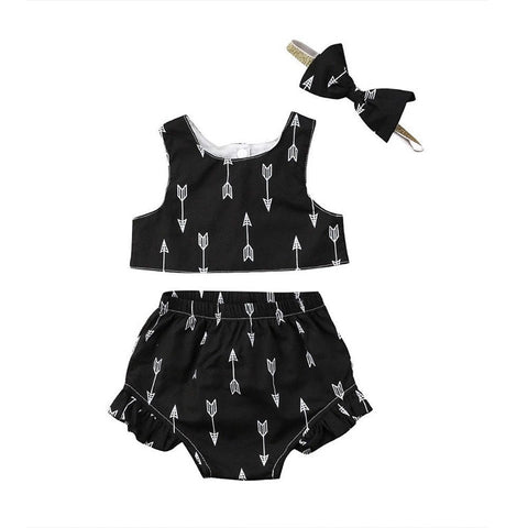 Bow And Arrows Baby Girl Outfit