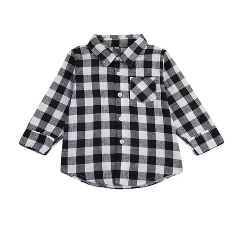 Checkmate Plaid Baby Shirt