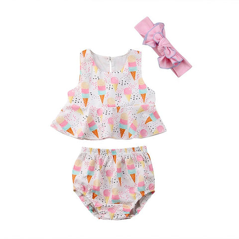 Scoops Baby Girl Outfit