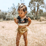 Fringed Beauty Baby Girl Outfit