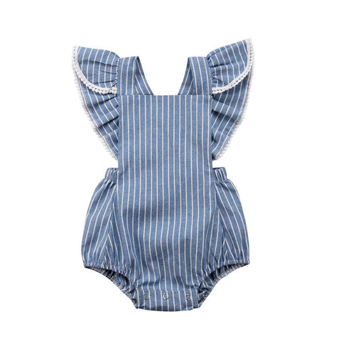 Apron Marie Baby Girl Romper