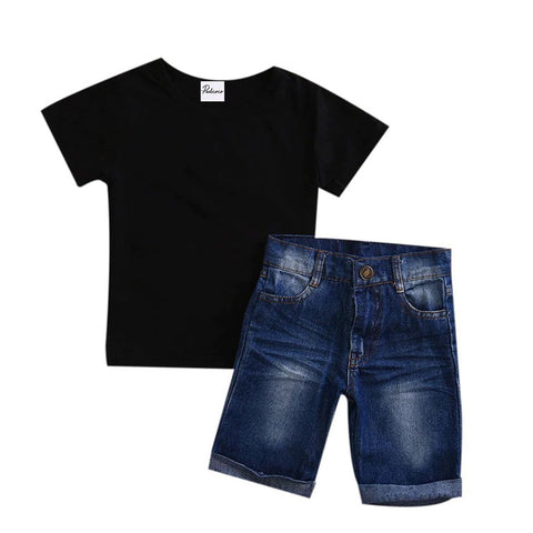 Black And Jean Baby Boy Outfit