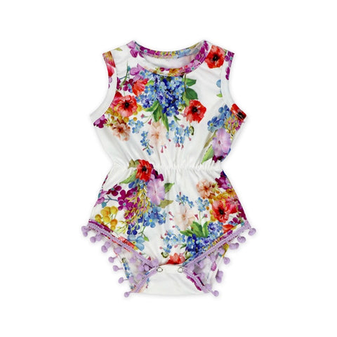 Purple Shower Baby Romper