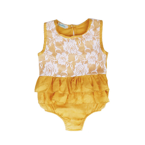 Butterscotch Baby Girl Romper