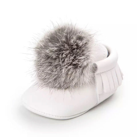 Poms And Moccs Baby Shoe