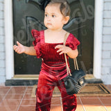 Red Velvet Baby Jumpsuit