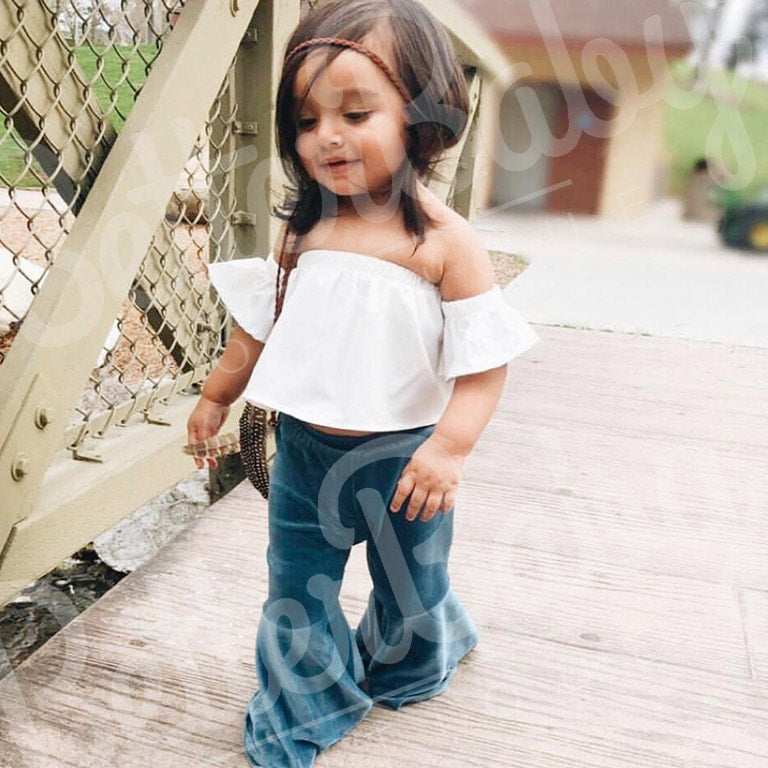 toddler bell bottoms baby bells handmade in extra soft knit available in full or semi full bells baby girl clothes BABY BELL BOTTOMS