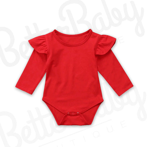 Candy Apple Baby Romper