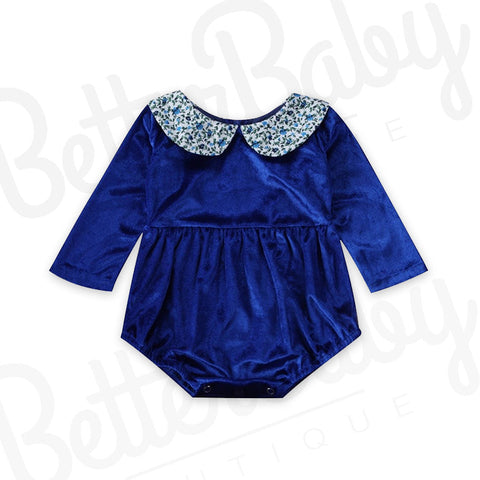 Blue Royale Baby Girl Romper