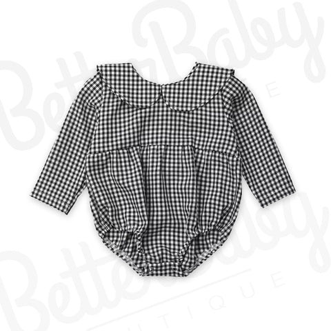Checked In Baby Romper