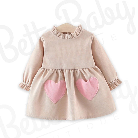 All Hearts On Deck Baby Dress