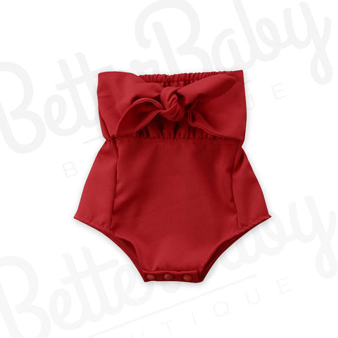 RED Or Knot Baby Romper