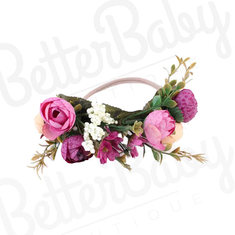 Flower Crown Baby Headband