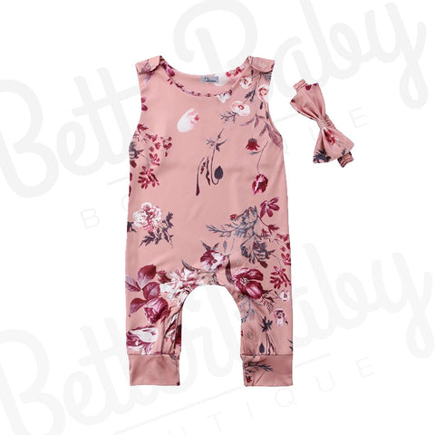 On The Grow Baby Romper And Bow