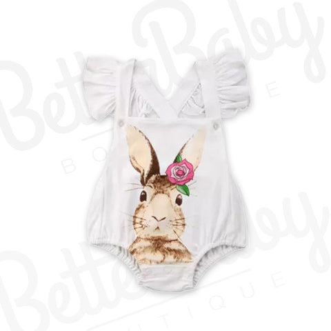 Cute Hare Don't Care Baby Romper