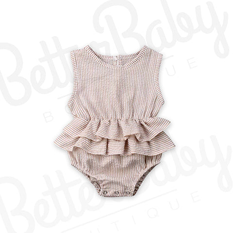 Country Chic Baby Romper