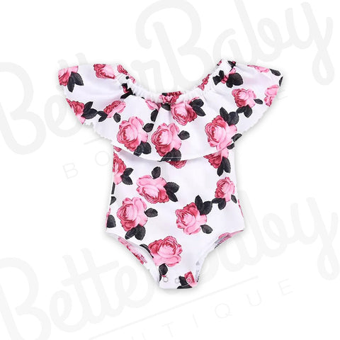 Rose To The Occasion Baby Romper
