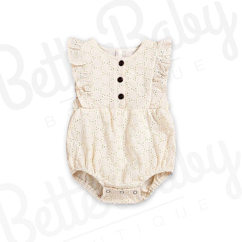 Eyelet Lace Baby Romper