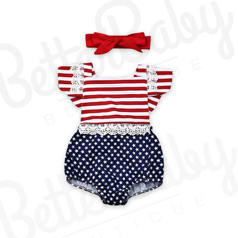 The Patriot Baby Romper