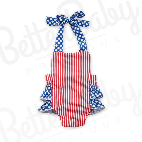 Lady Liberty Baby Romper