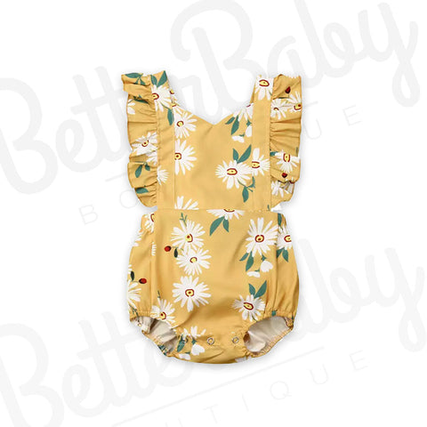 Drive Me Daisy Baby Romper