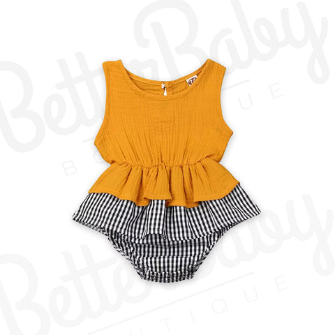 In Plaid Sight Baby Romper