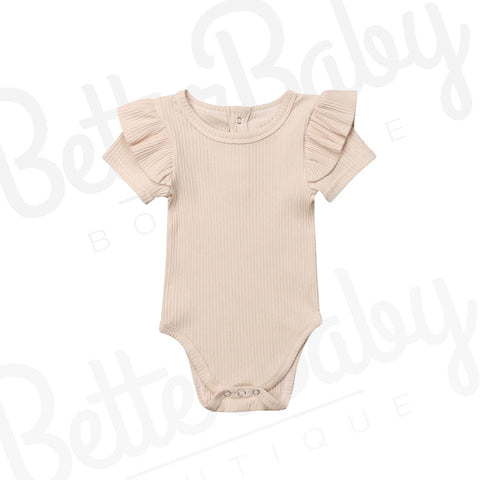 Rib You Not Baby Romper Short Sleeve