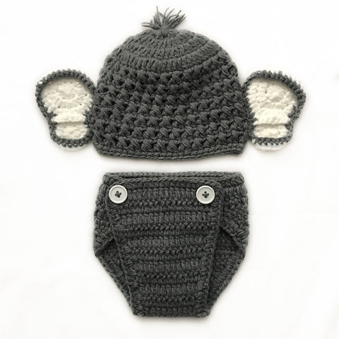 Crochet Baby Elephant 2 Piece