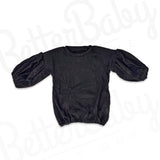 So In The Knit Baby Sweater Black