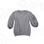 So In The Knit Baby Sweater Gray