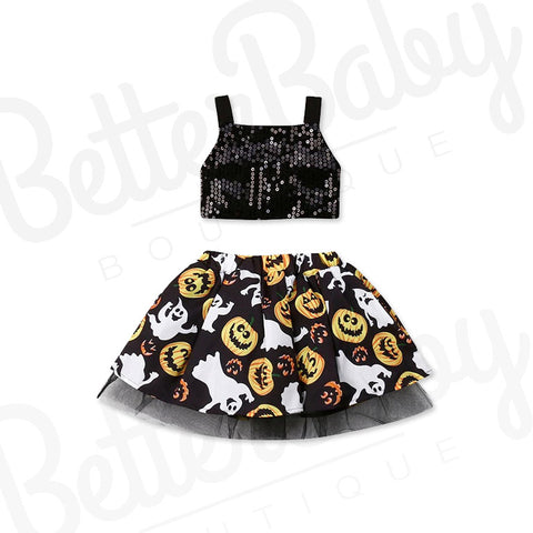 Spooky Boo Baby Girl Outfit