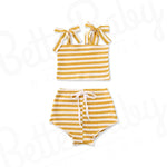 Stripe Two Baby Girl Outfit