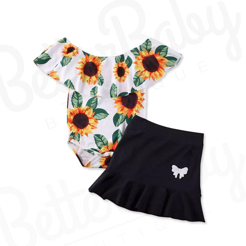 Sunflower Baby Girl Outfit
