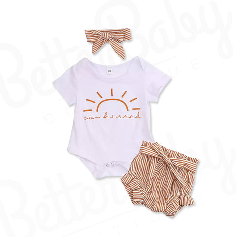 Sunny Baby Girl Outfit And Head Wrap